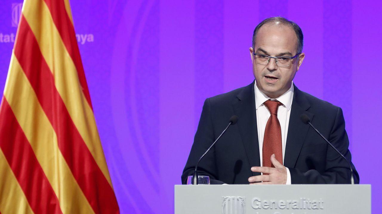 Jordi Turull. Es consejero de Presidencia y portavoz del Gobierno catalán.