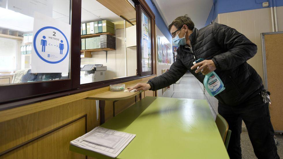 Desinfección del colegio CEIP Silleda