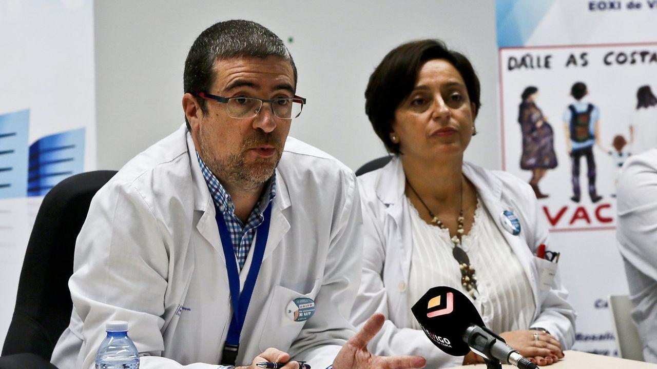 Félix Rubial y Mar Vázquez Salvado, en una imagen de archivo en Vigo.