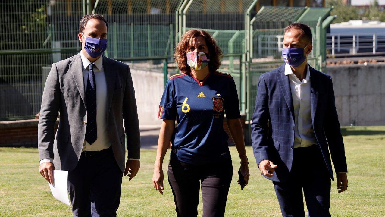 La secretaria de Estado de Deporte, Irene Lozano durante el acto conmemorativo del 10 aniversario de la victoria de la selección española de fútbol en el Mundial de 2010 celebrado en el Centro Superior de Deportes en Madrid el pasado 10 de julio.