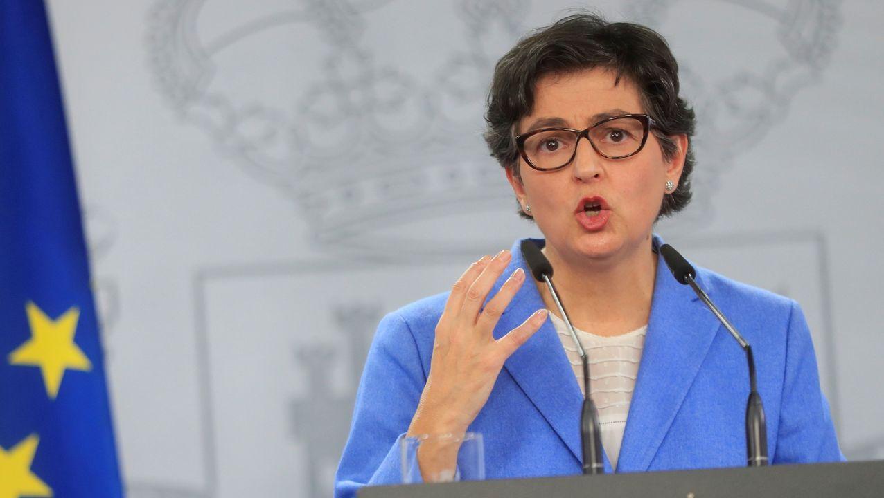 Iceta e Illa, en la toma de posesión del primero el día que el segundo abandonó el Gobierno.La ministra española de Asuntos Exteriores, Arancha González Laya