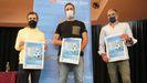 Javier Barreiro, Juan Pouso y Luis Otero presentaron la iniciativa en la casa de la cultura sonense
