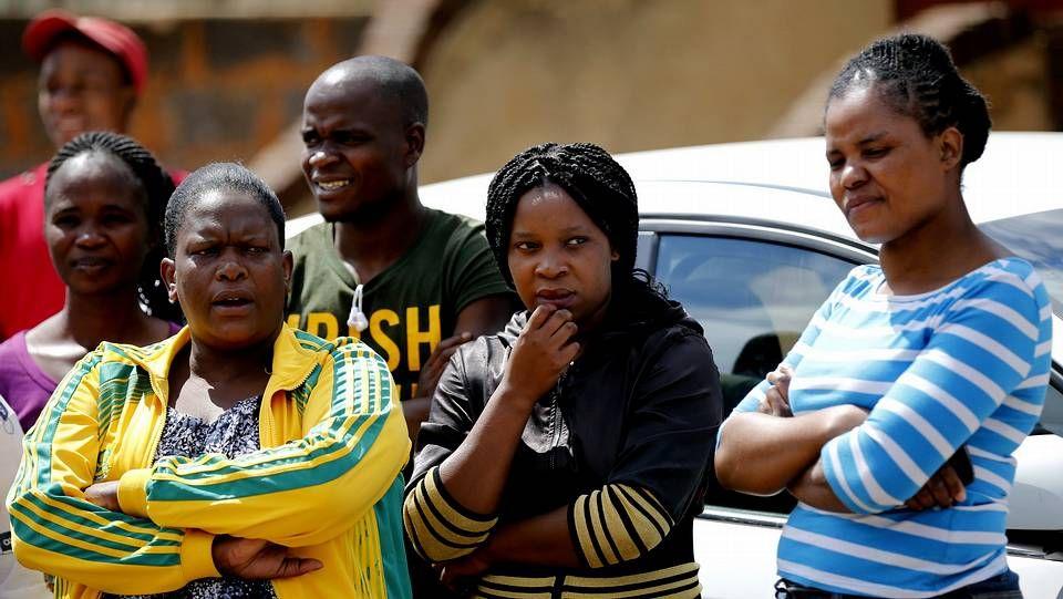 Vecinos de Senzo Meyiwa tras el incidente