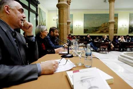 Valdehorras, Ánxeles Cuña e Camilo Franco no Liceo.