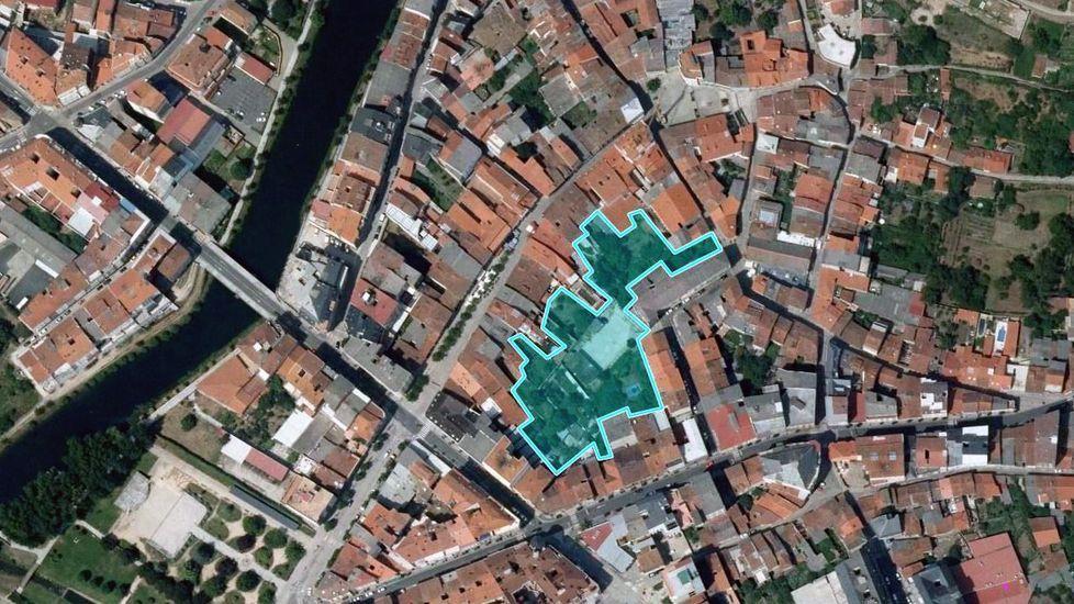 Localización de la manzana interior, próxima a las calles Cardenal, Roberto Baamonde y avenida de Galicia