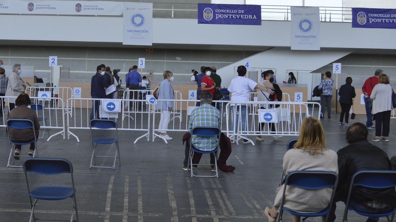 Escolares del CRA de Caldas crean su catálogo de flora.Vacunación en el recinto ferial de Pontevedra