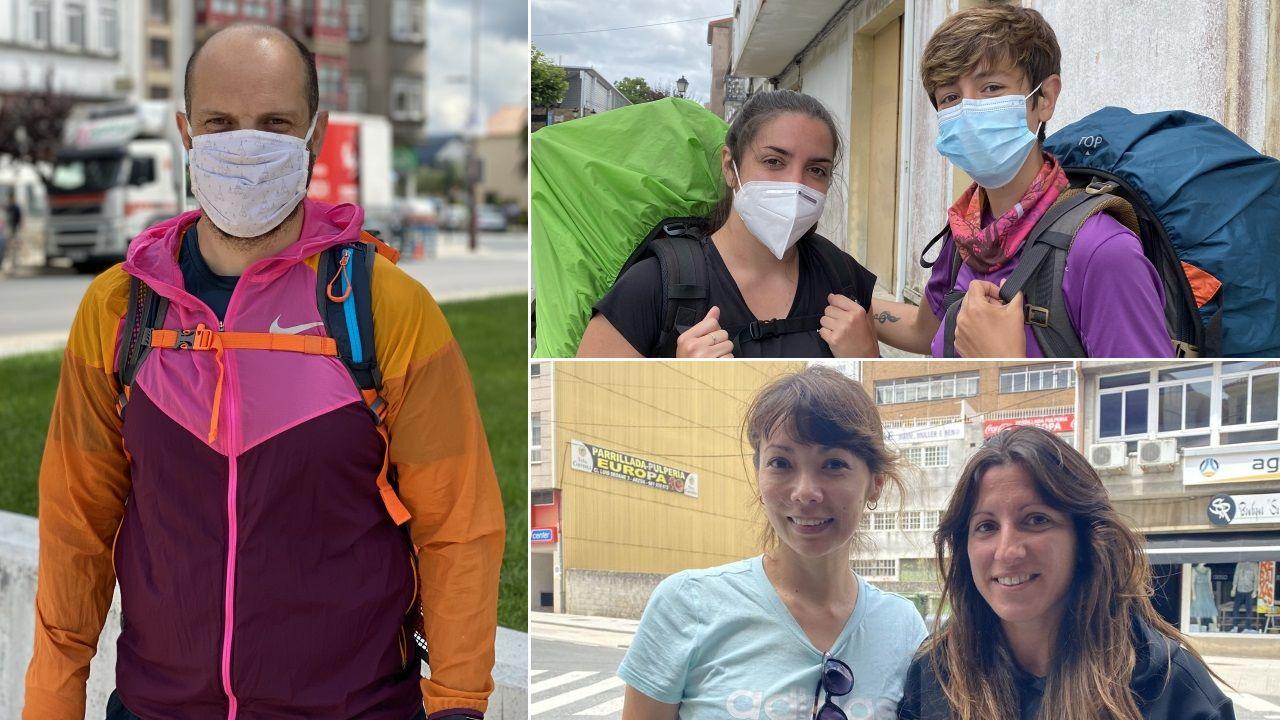 Primeros peregrinos que visitan los albergues del Camino de Santiago tras el confinamiento