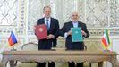 Los ministros de Exteriores de Rusia e Irán, Serguéi Lavrov y Mohamad Yavad Zarif
