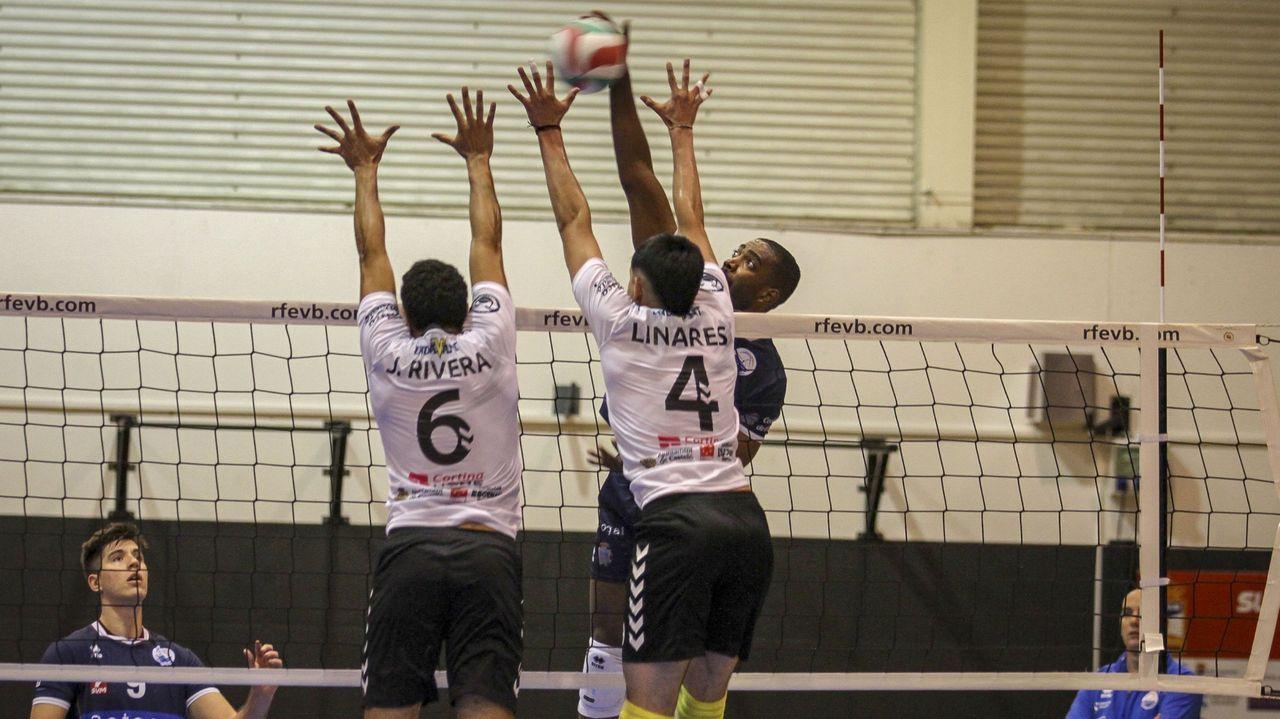 Imagen de archivo del partido disputado entre ambos equipos en A Cachada