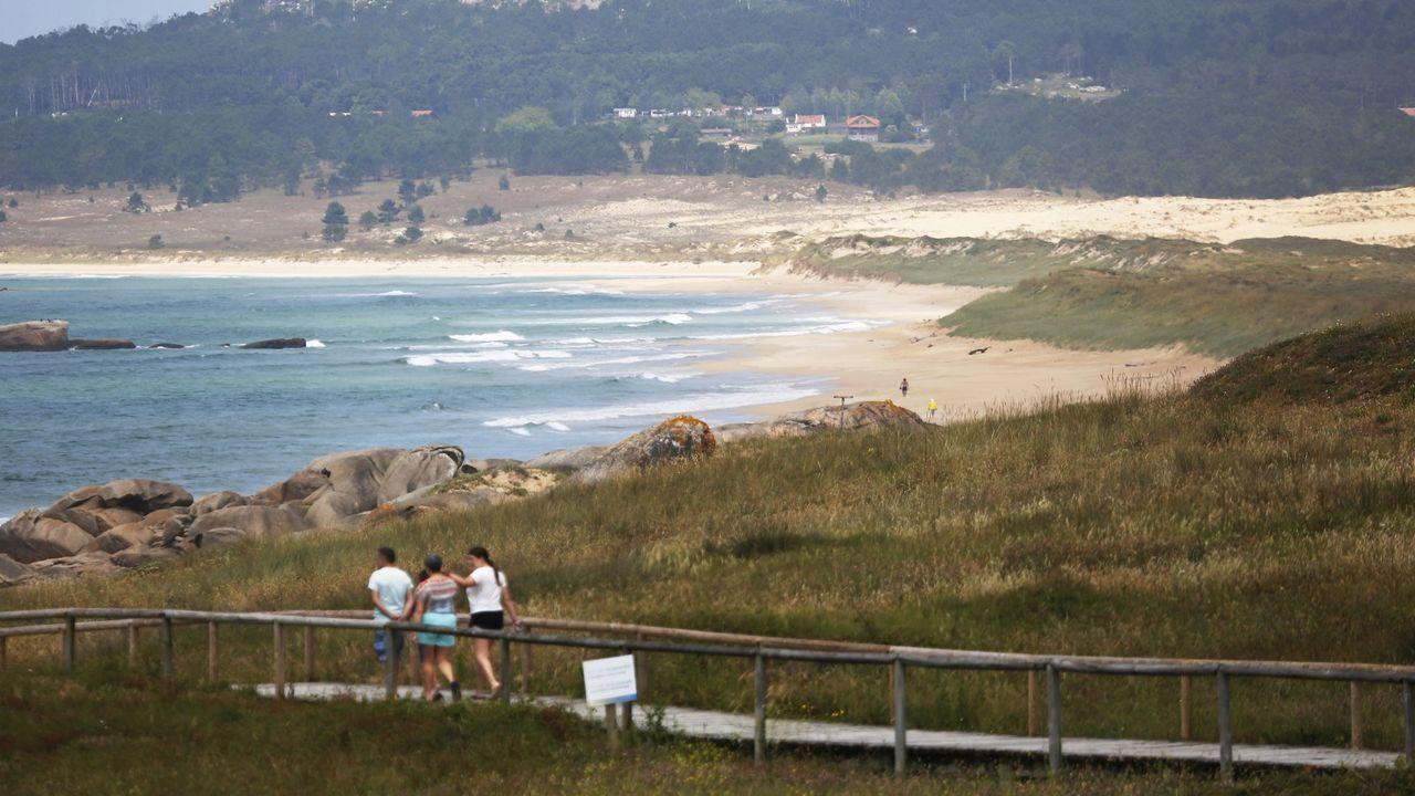 Foto de archivo de la playa de O Vilar, en Ribeira