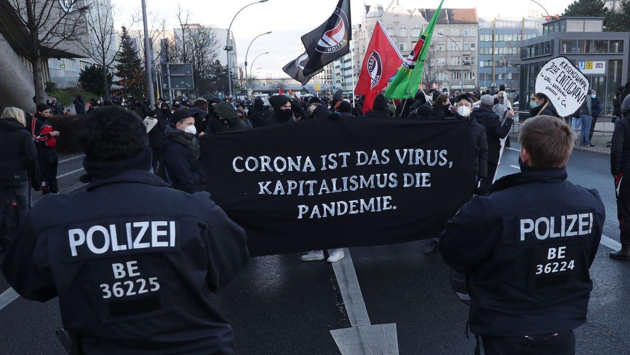 Protestas en Belín contra la gestión de la pandemia