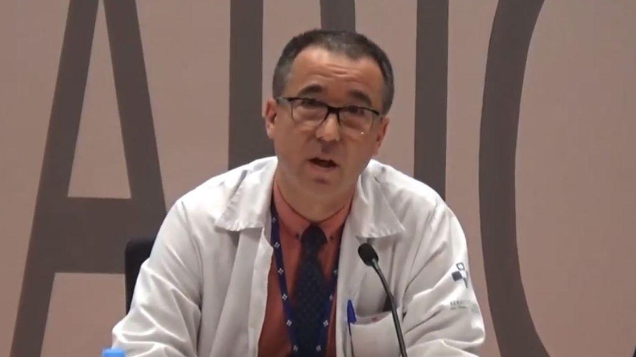 Infografía con la reforma integral del hospital de Cabueñes, en Gijón.El nuevo consejero de Sanidad, Pablo Fernández Muñiz