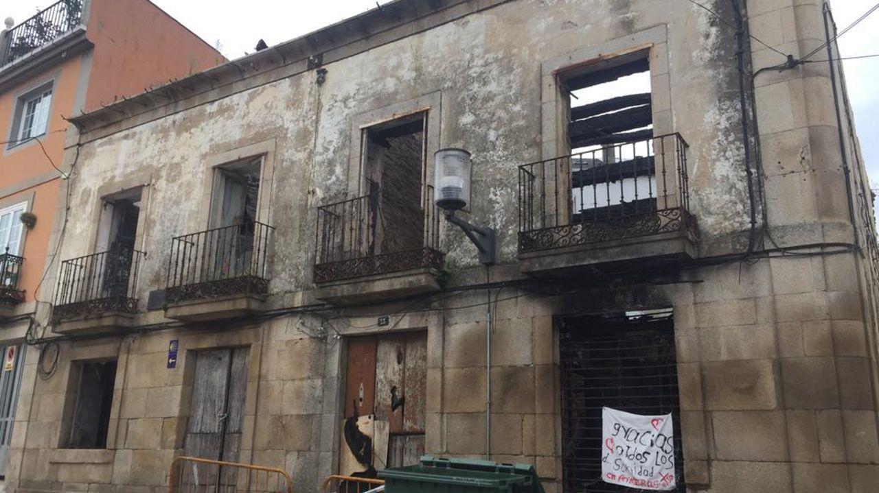 Estado actual de la fachada de A Casa das Arsenias