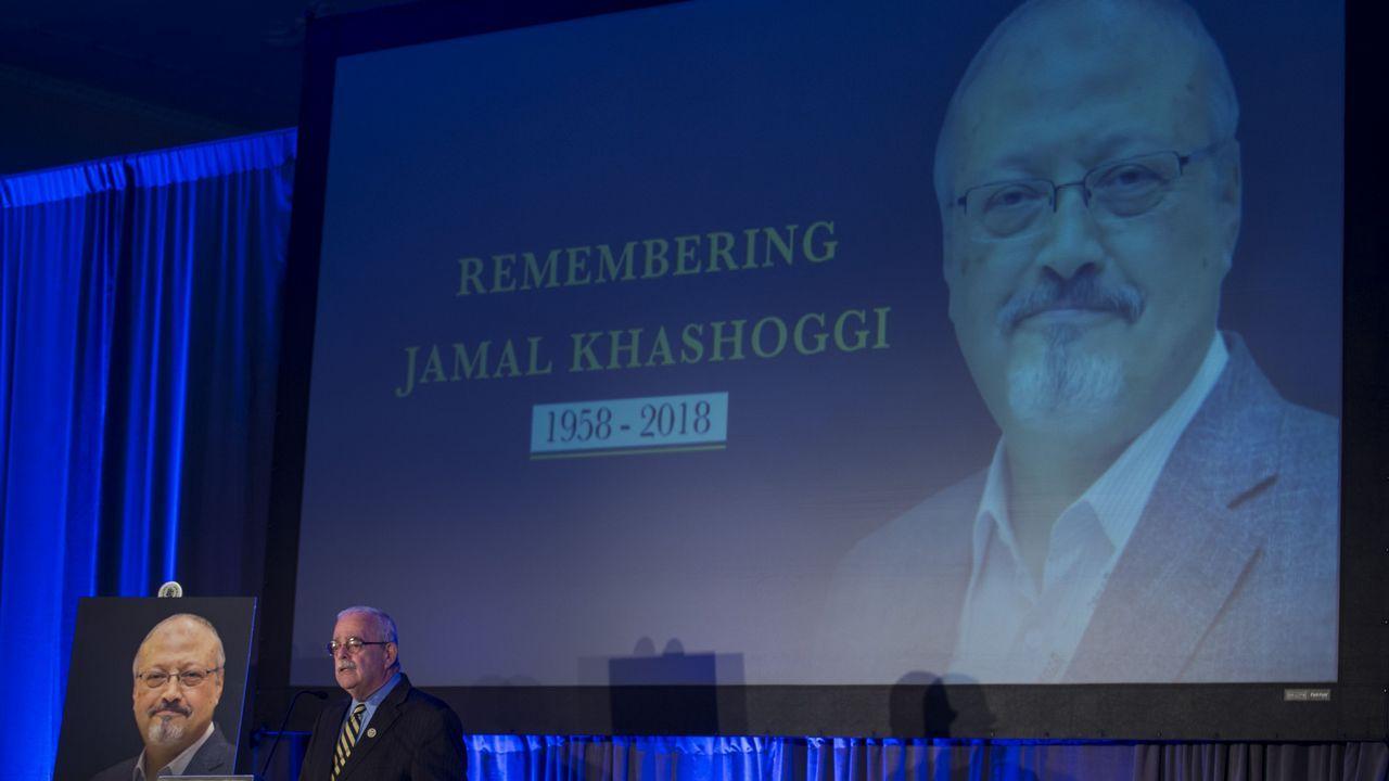 Acto de homenaje al periodista Jamal Khashoggi, en Washington
