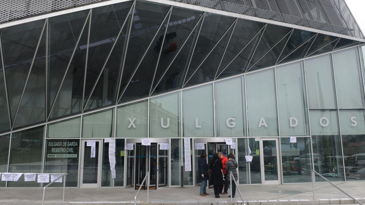 Imagen del edificio de los juzgados de Ourense