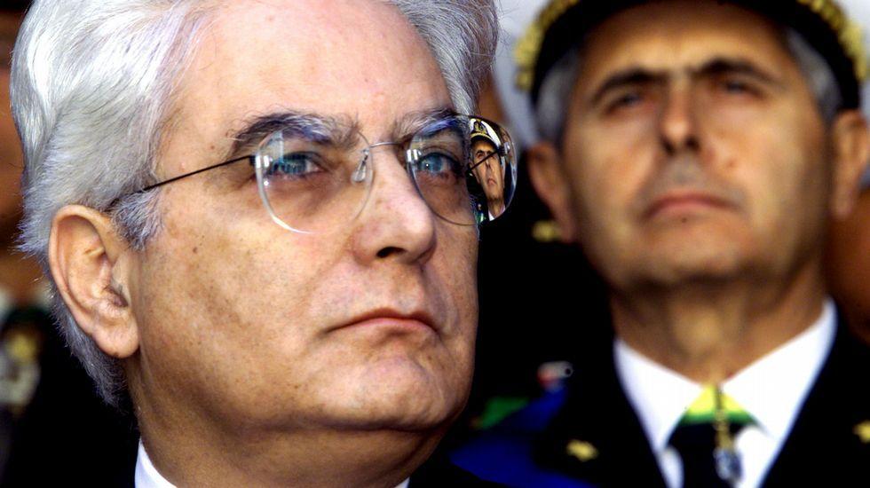 El jurista y varias veces ministro Sergio Mattarella, de 73 años.