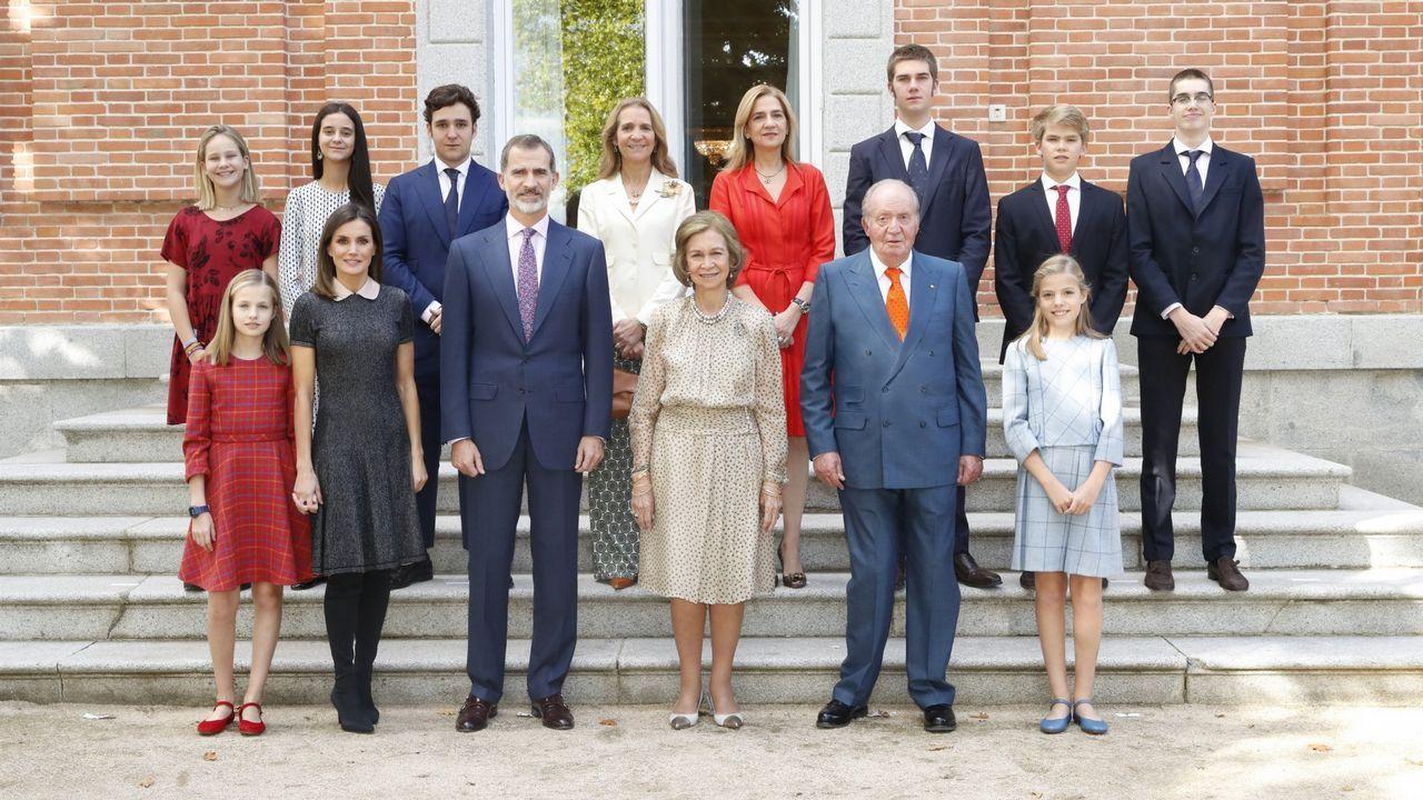 Foto oficial por el 80 cumpleaños de la reina Sofía, en noviembre del 2018