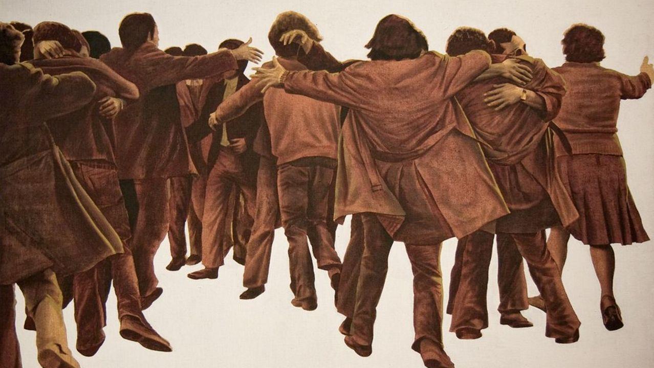 Detalle de «El abrazo», de 1976