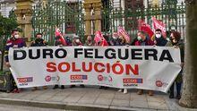 La protesta de trabajadores de Duro Felguera