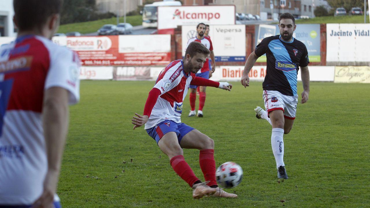 Las imágenes del partido de la Copa del Rey entre el Ribadumia y el Cádiz