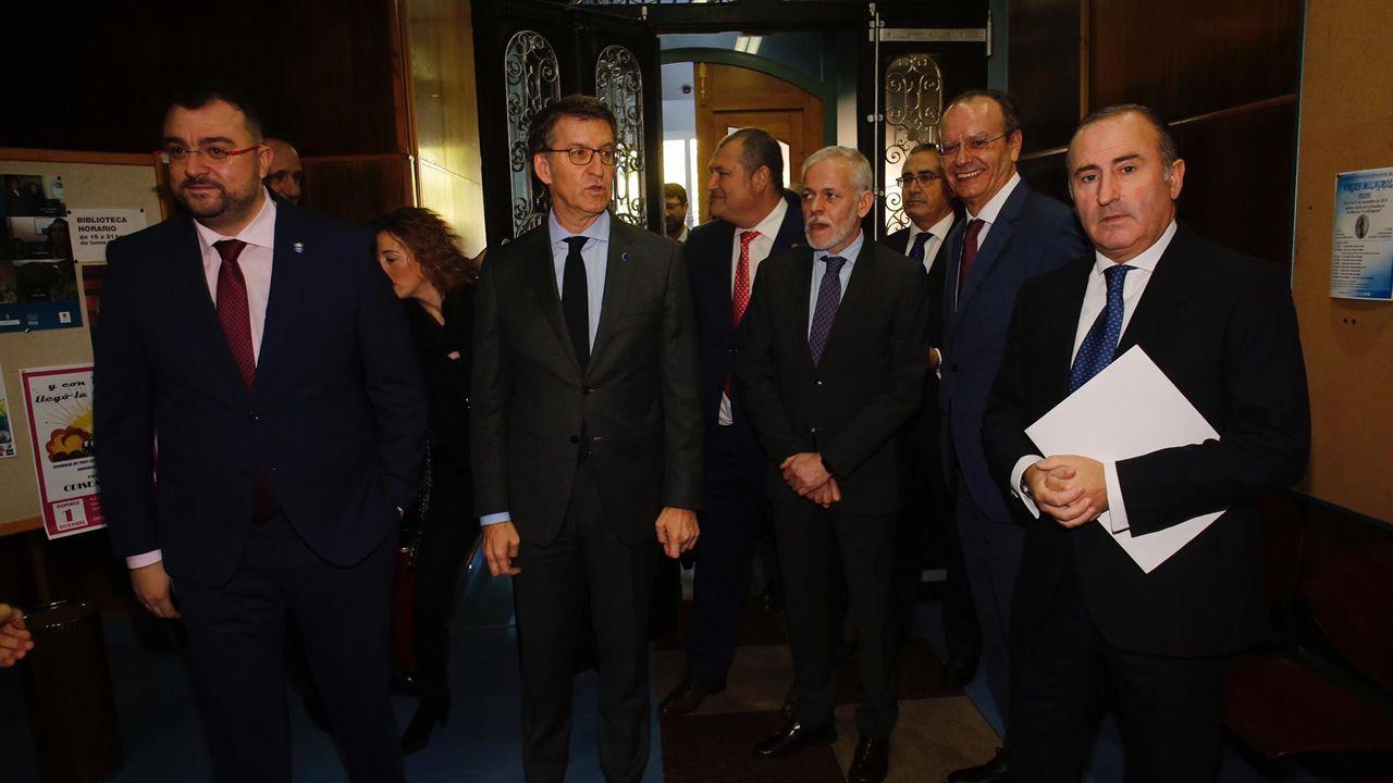 Galicia y Asturias abordan sus desafíos en el foro Encuentros en el Eo.Más de 170 invitados acudieron al encuentro en la Casa de la Cultura de Vegadeo