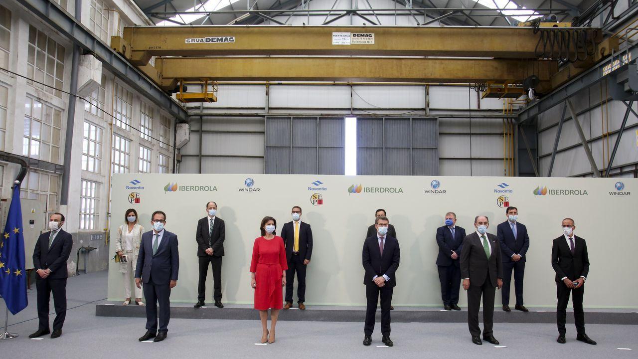 Así fue el acto de firma del contrato entre Iberdrola, Navantia y Windar Renovables