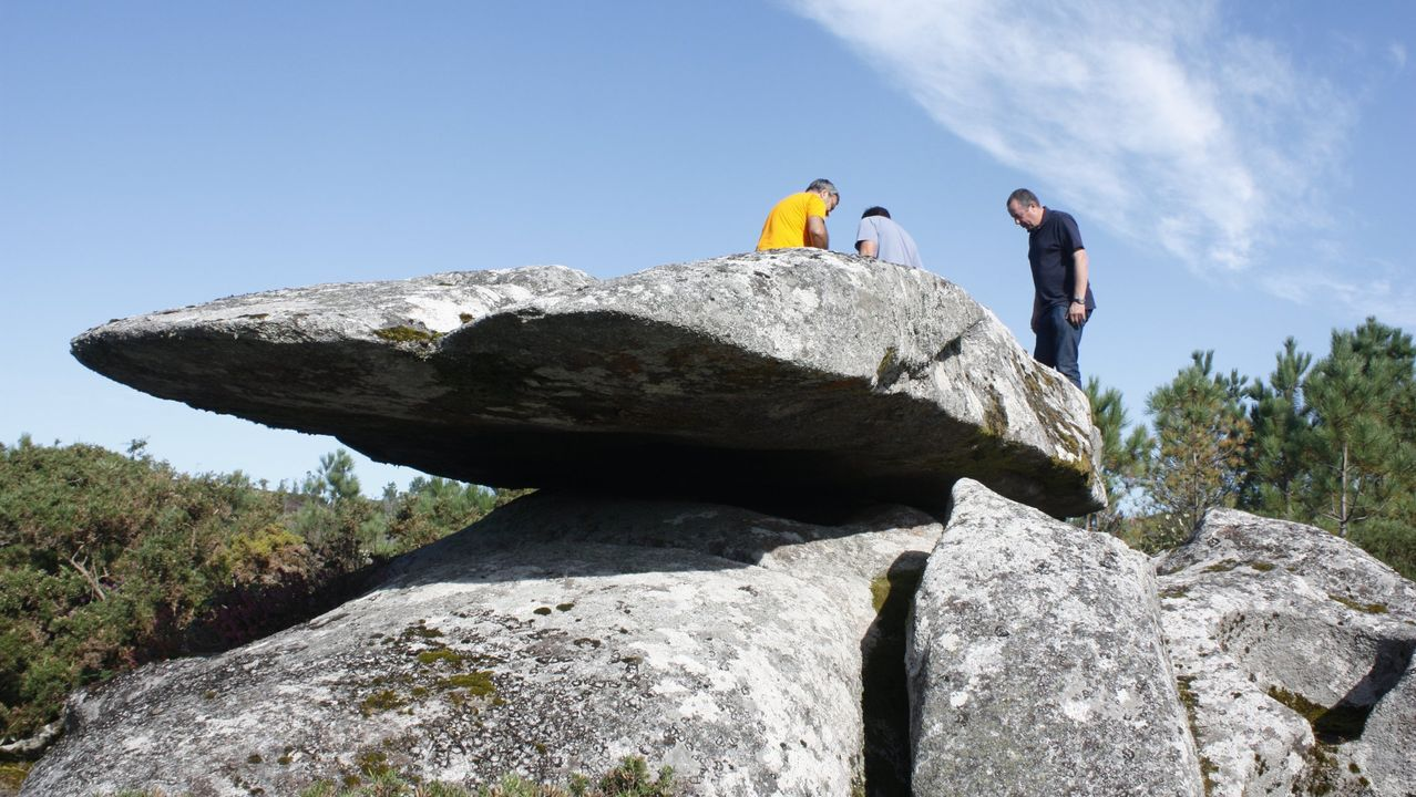 Restos romanos en Brandomil.La Pedra da Graíña