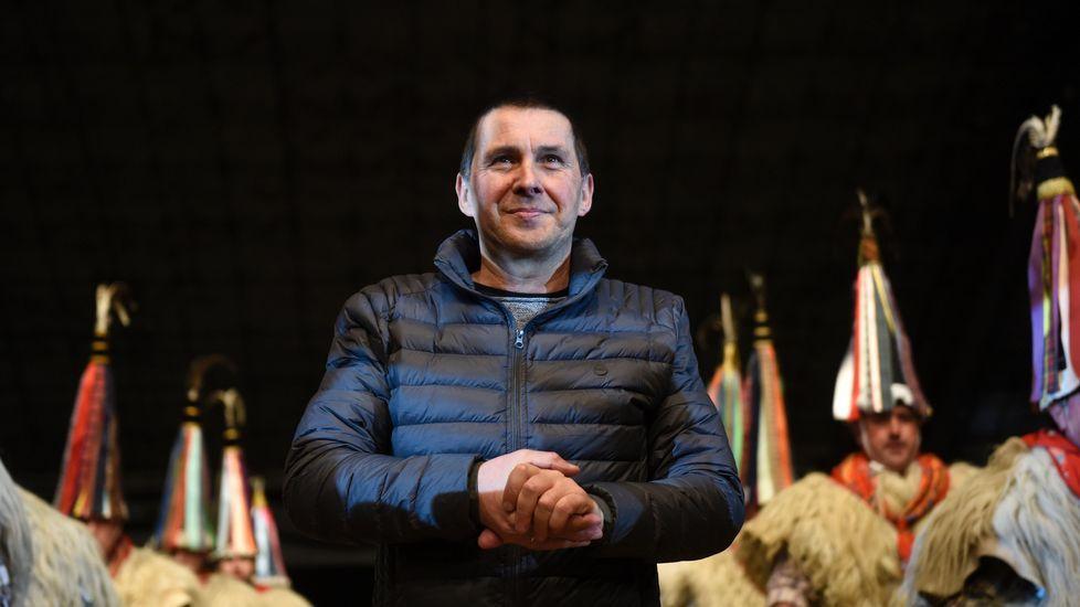 Otegi vuelve a Anoeta.Otegi, recibido por parlamentarios de la CUP