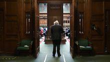 Boris Johnson, a su llegada a la Cámara de los Comunes
