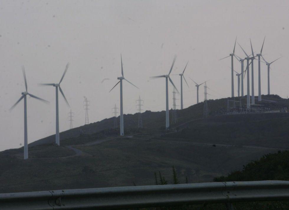 El parque eólico empezó a funcionar ya hace años
