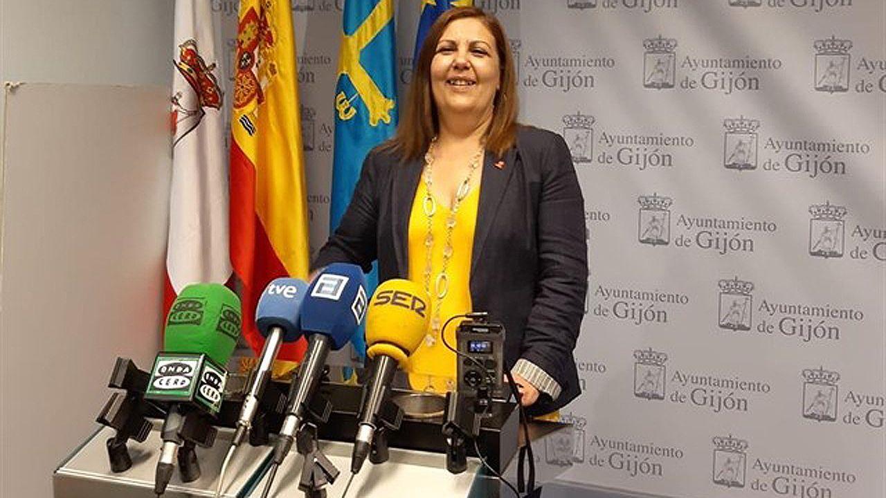 Marina Pineda, portavoz de la Junta de Gobierno local de Gijón,