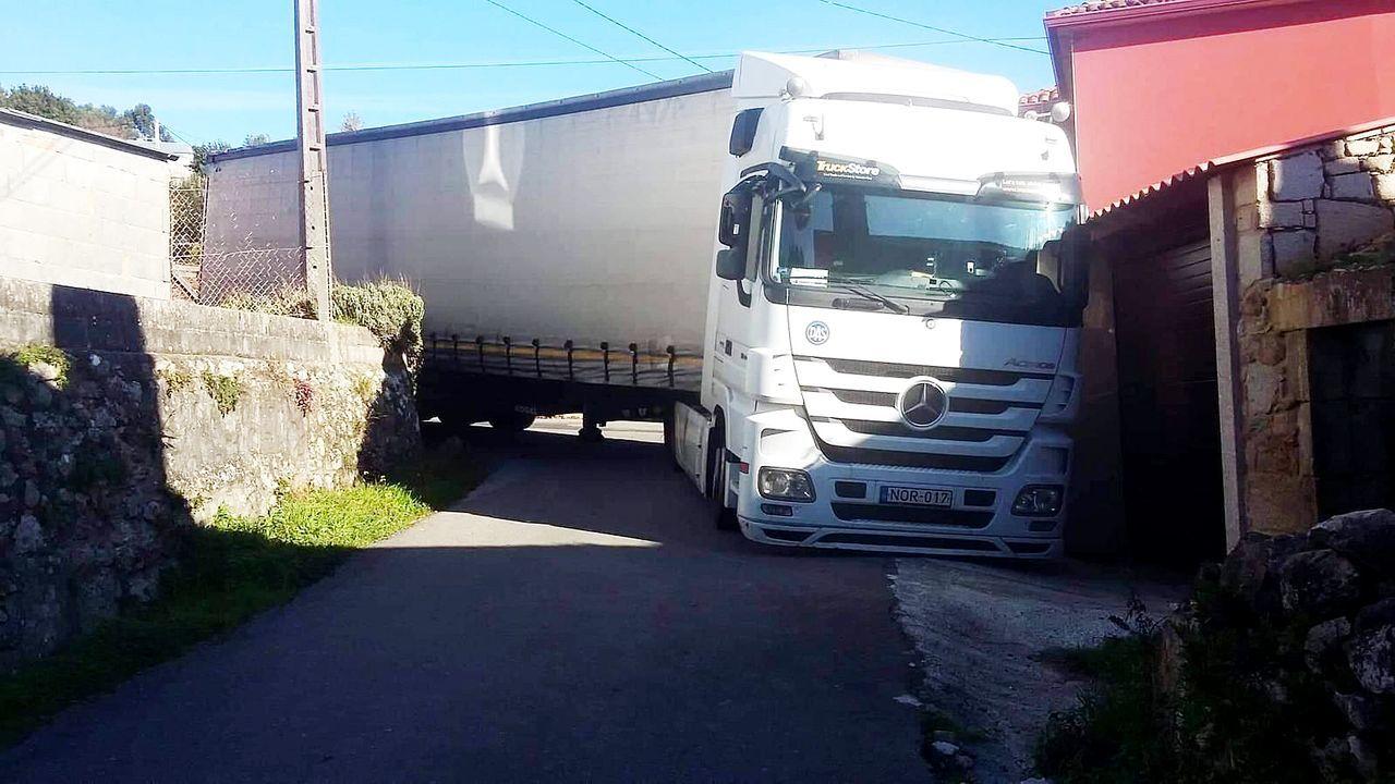 El lugar de San Martiño, en Ribeira, ha vivido en varias ocasiones el atasco de camiones por errores del GPS