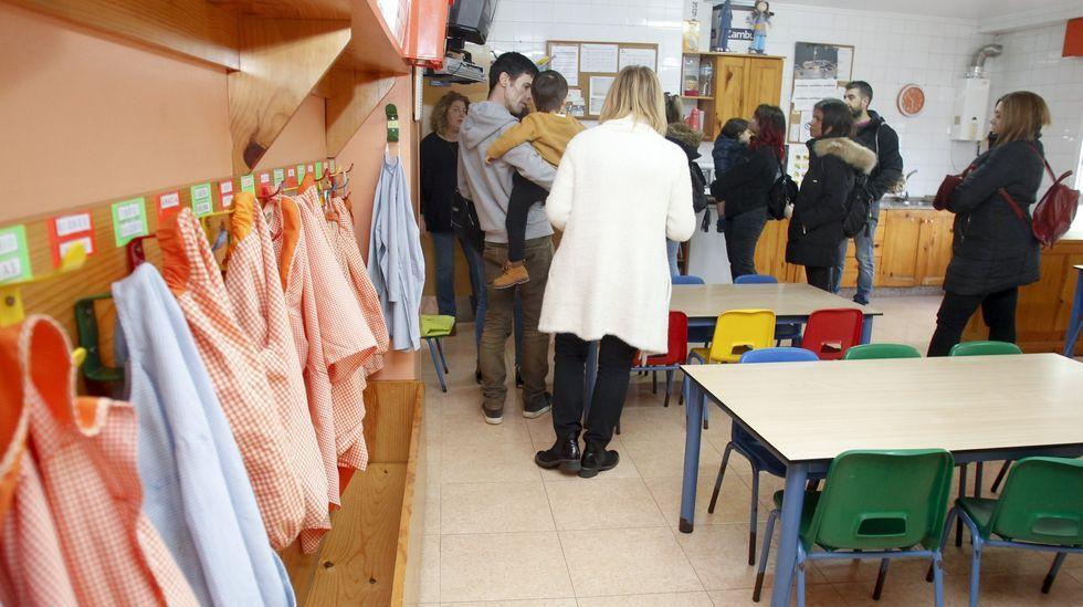 Una visita guiada al colegio San Rosendo, en foto de archivo