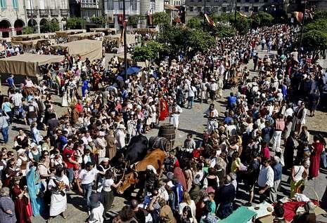La Feira Franca atrae cada año a miles de personas a la ciudad de Pontevedra.