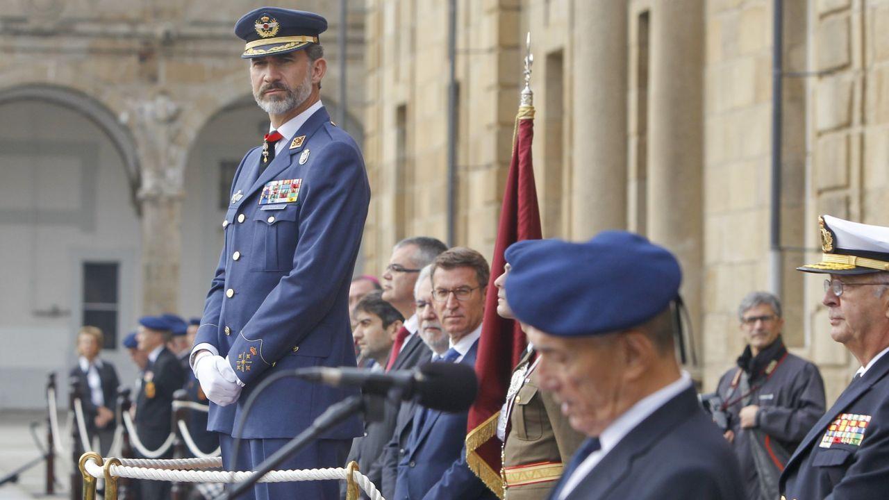 La relación de Felipe VI y Marín.Felipe VI, en una imagen durante su visita al Arsenal de Ferrol en noviembre del 2016