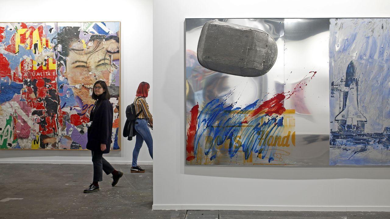 Histórica obra de Mimmo Rotella y Robert Rauschenberg en la galería neoyorkina Edward Tyler Nahem