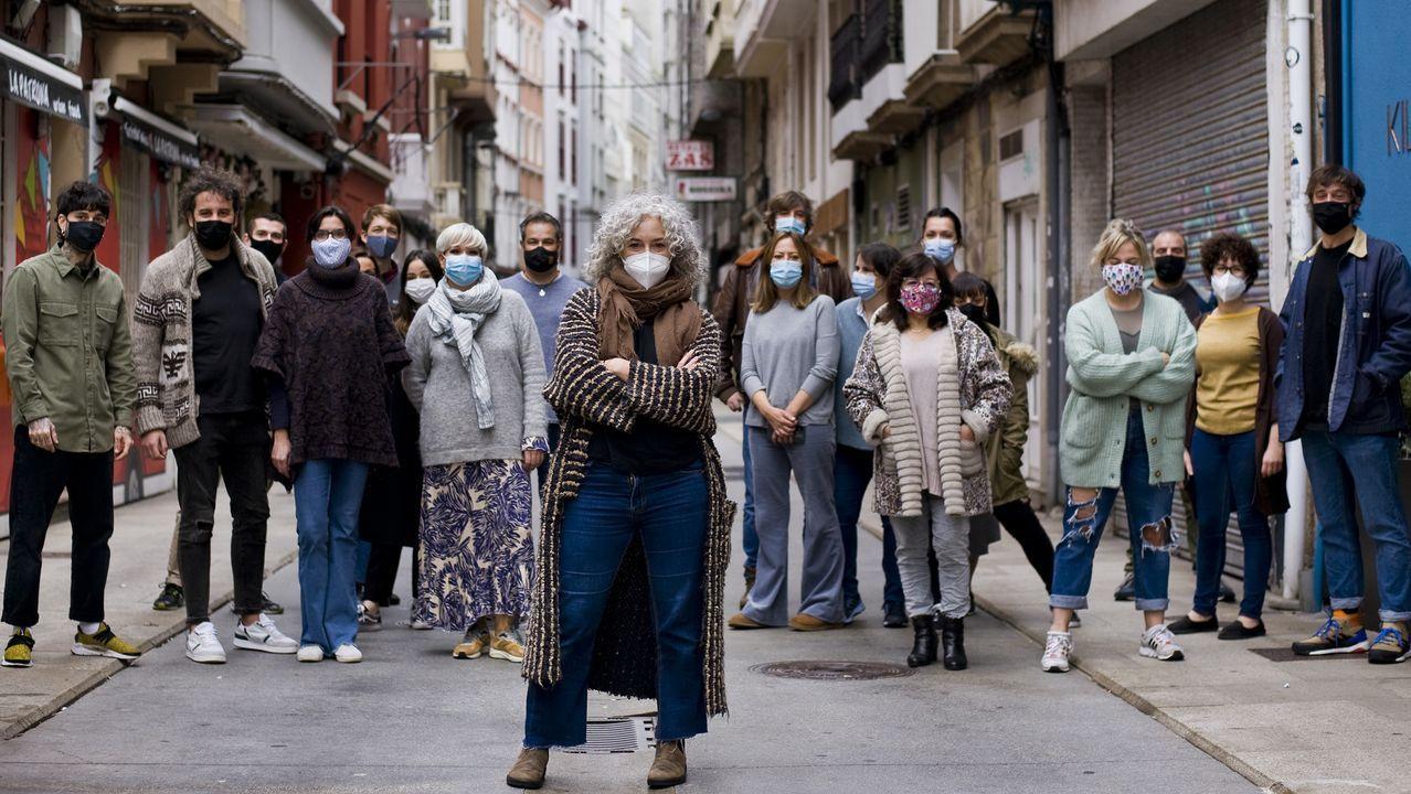 quiroga.Susana Lata, acompañada por otros comerciantes, pide alumbrado navideño para la calle Orzán.