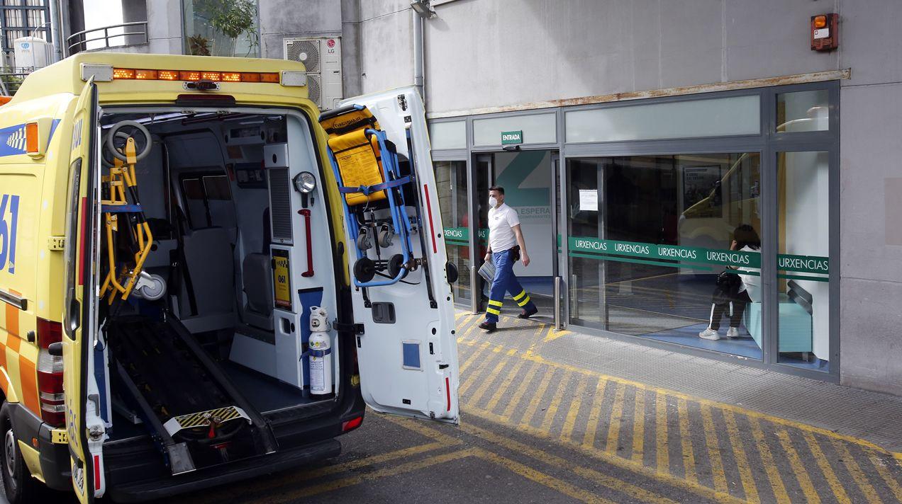Urgencias en el hospital Montecelo de Pontevedra
