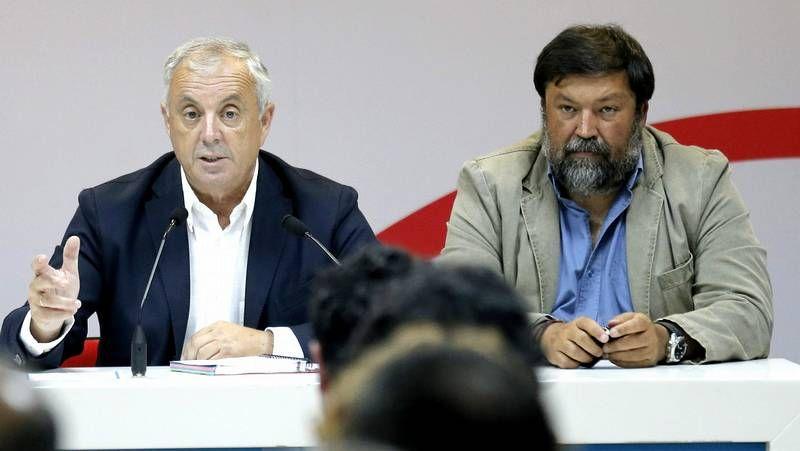 José Blanco, ayer al comparecer ante los periodistas en el Congreso de los Diputados.