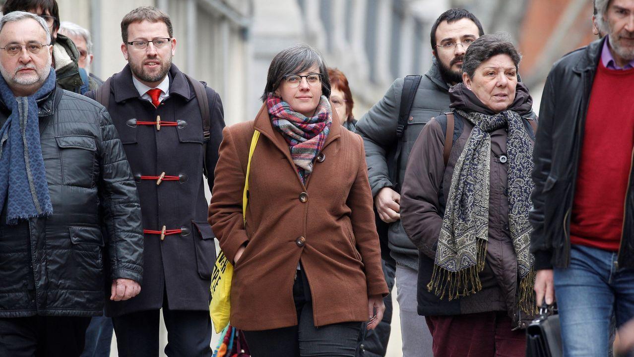 Colau durante un pleno en el Ayuntamiento de Barcelona