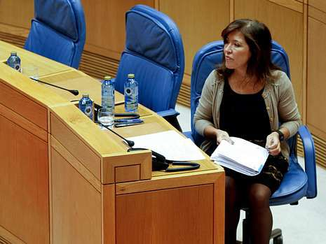 La conselleira Beatriz Mato, ayer, en el Parlamento.
