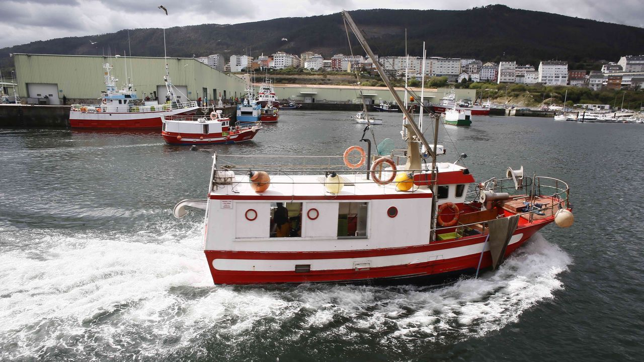 Pesqueros protestando en Burela