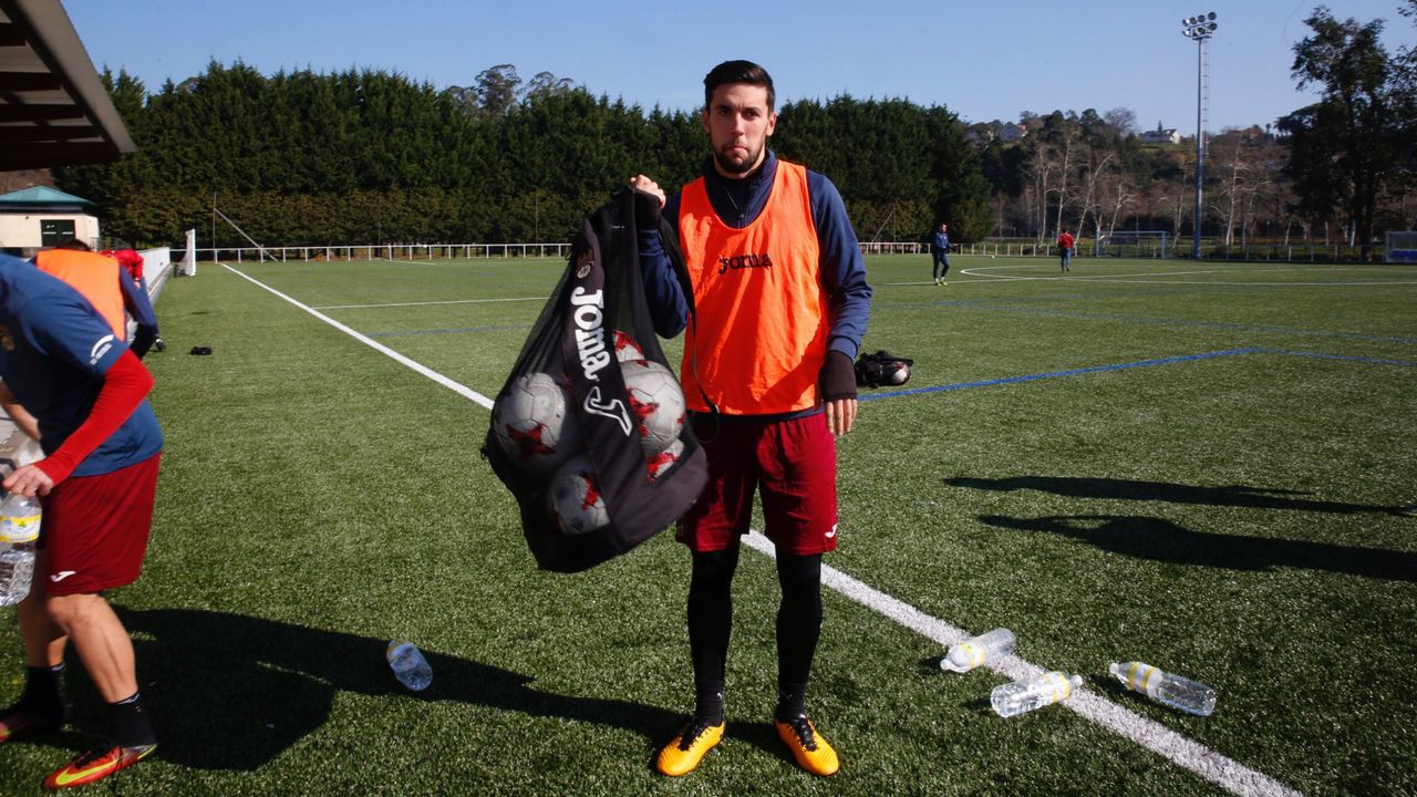Las mejores imágenes del Fabril - Celta B.Eder Diez jugador del Pontevedra Cf
