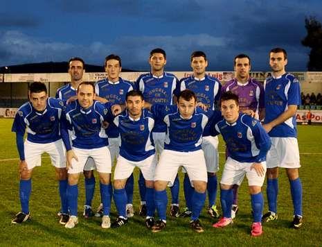 Once inicial de los ponteses en el partido del pasado sábado frente al Narón Balompé.