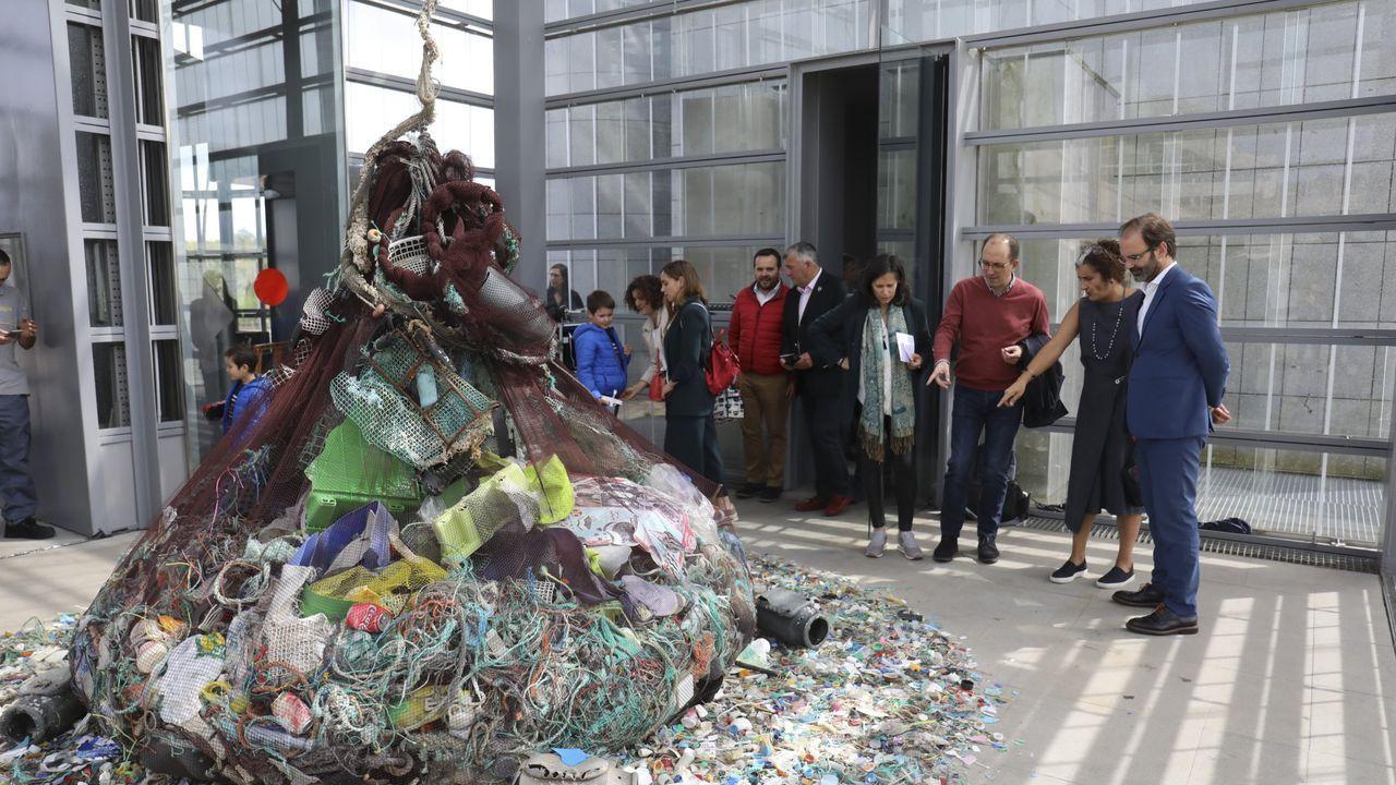 Inauguración de «Plástico a mareas» el pasado mes de junio en la Cidade da Cultura