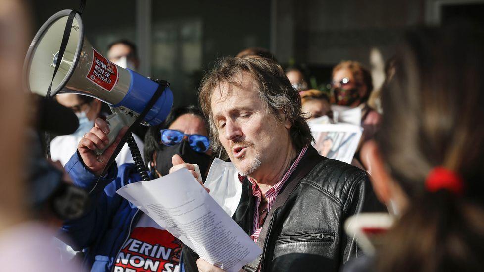 El lunes se celebró en Verín una concentración de apoyo a Javier Castrillo