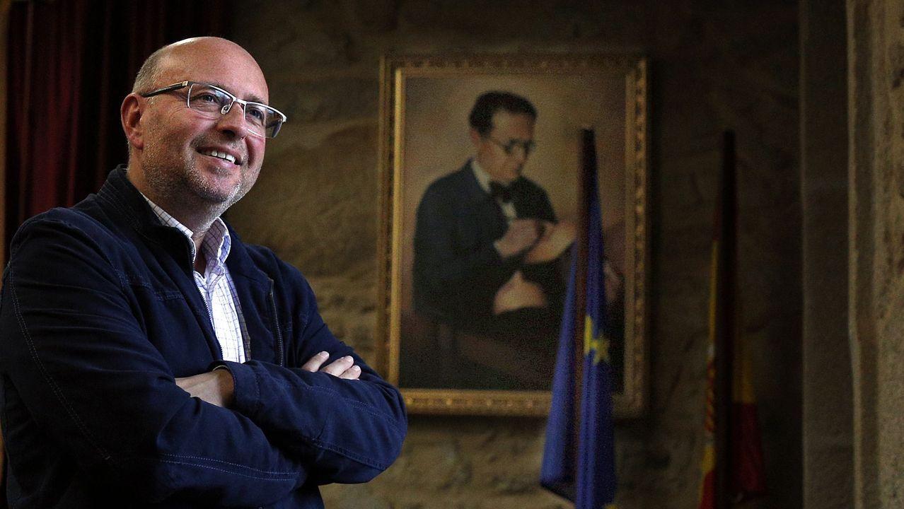 Ana Villarino, alcaldesa de Oímbra:«É moi posible que pases a Verín ou Portugal».José María Seijas, presidente de la Federación Galega de Comercio