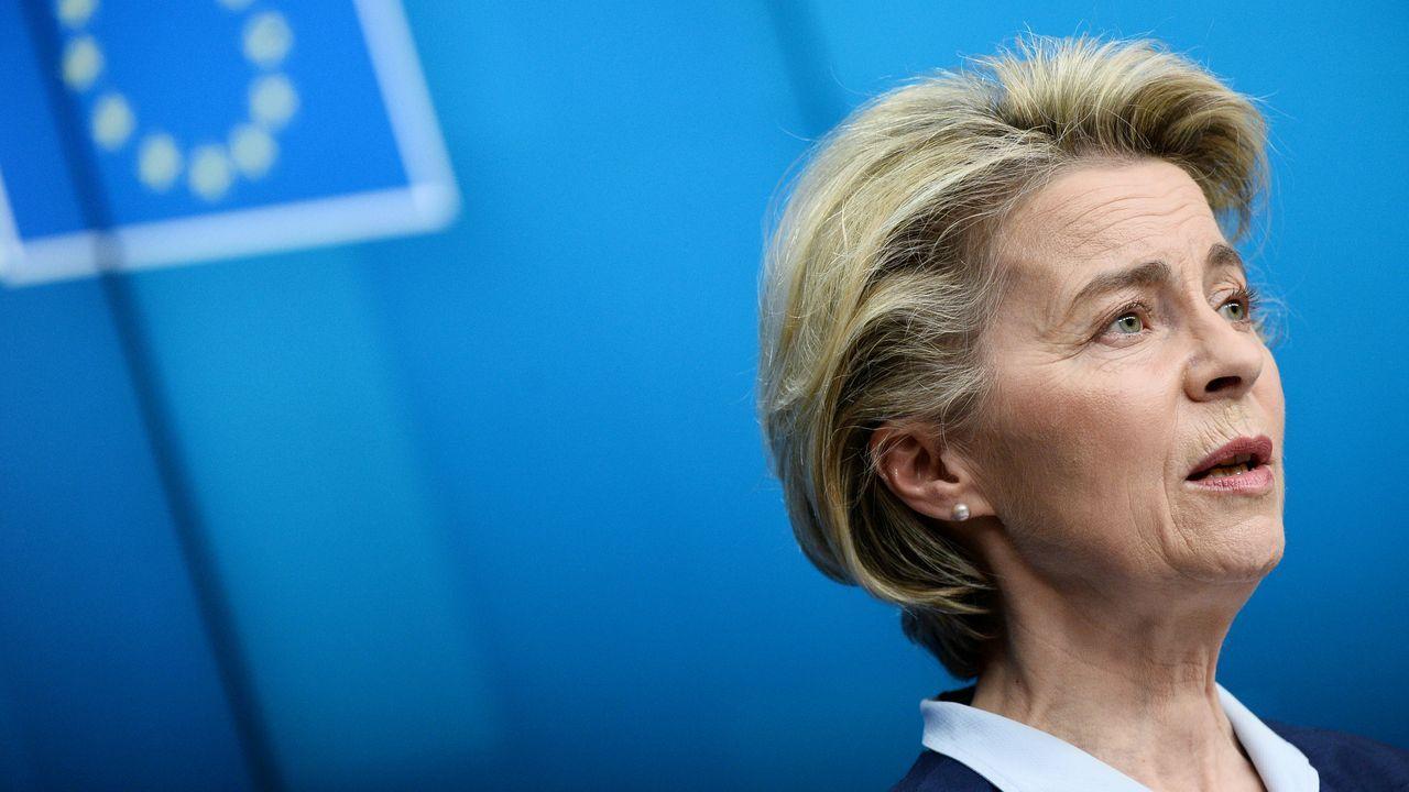 Rodrigo Rato.La presidenta de la Comisión Europea, Ursula Von der Leyen