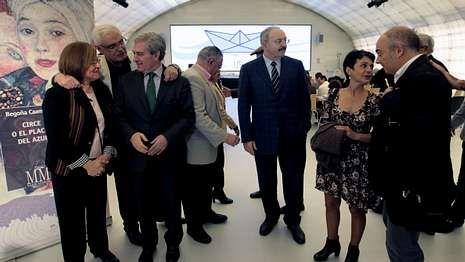 Gentes de la cultura gallega se reunieron en Madrid en la presentación de Mar Maior.