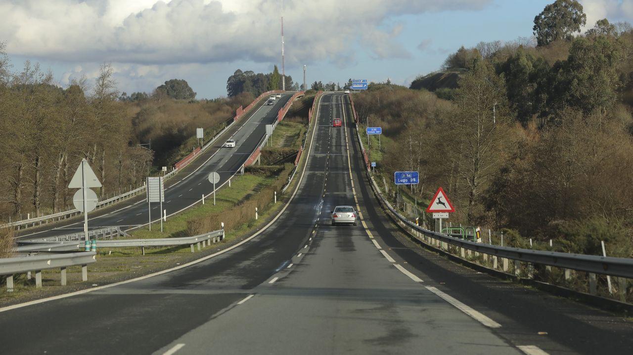 Accidente mortal en el peaje de Guísamo.Gonzalo Caballero y Pedro Sánchez, en un mitin en A Coruña